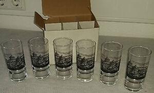 GLASERSET-BECHERGLASER-GLAS-SAMMELGLASER-SCHLOSS-VOIGTSBERG-OELSNITZ-NEU-6-STUCK