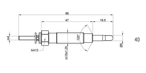 4X MITSUBISHI SHOGUN PAJERO SPORT CHALLENGER 2.5 Riscaldatore Glow Spine GP73301