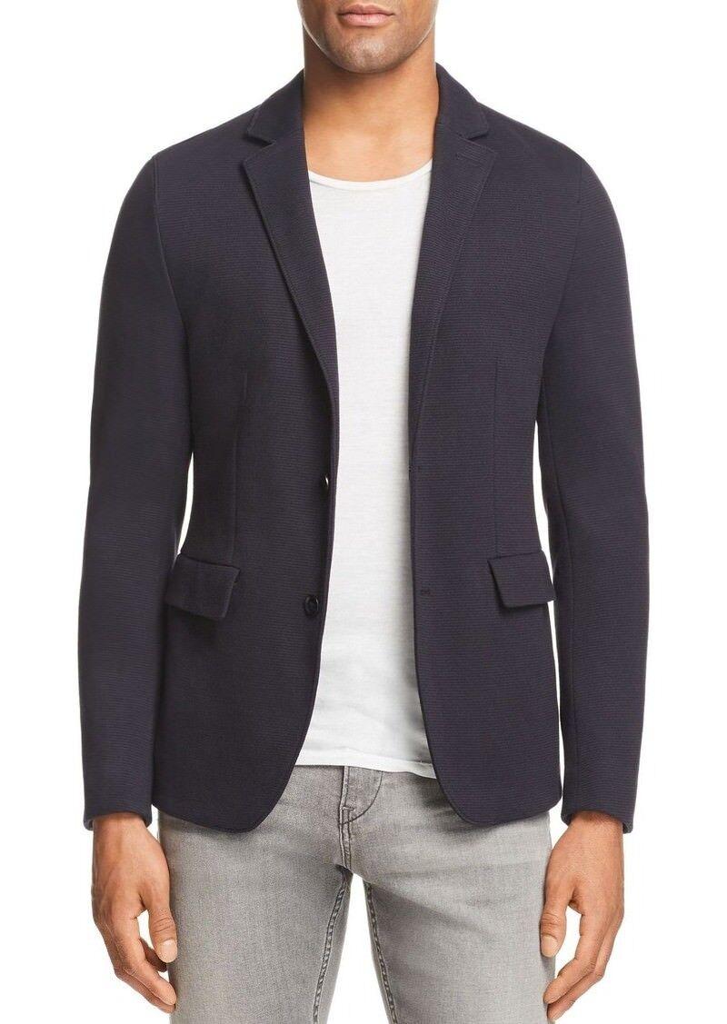 HUGO BOSS Mens Navy Rod Slim Fit Two-Button Stripe Jersey Blazer Jacket 40R