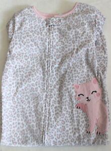 6f74e0f16 Carter's Pajamas 4 4T Cheetah Kitty Cat Footed Pink NWT Fleece Girls ...
