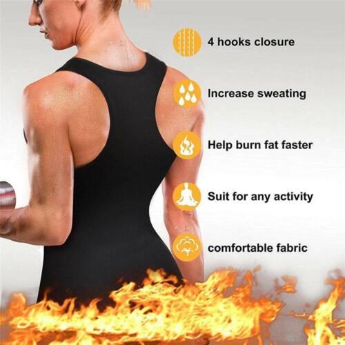 Women/'s Neoprene Vest Shaper Waist Trainer Sweat Belt Cincher Shapewear Gym Tops
