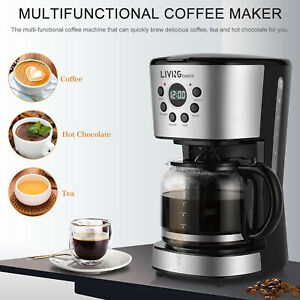 LIVINGbasics® 12-Cup Coffee Maker Programmable + 1.8L Carafe Pot, Birthday Gift