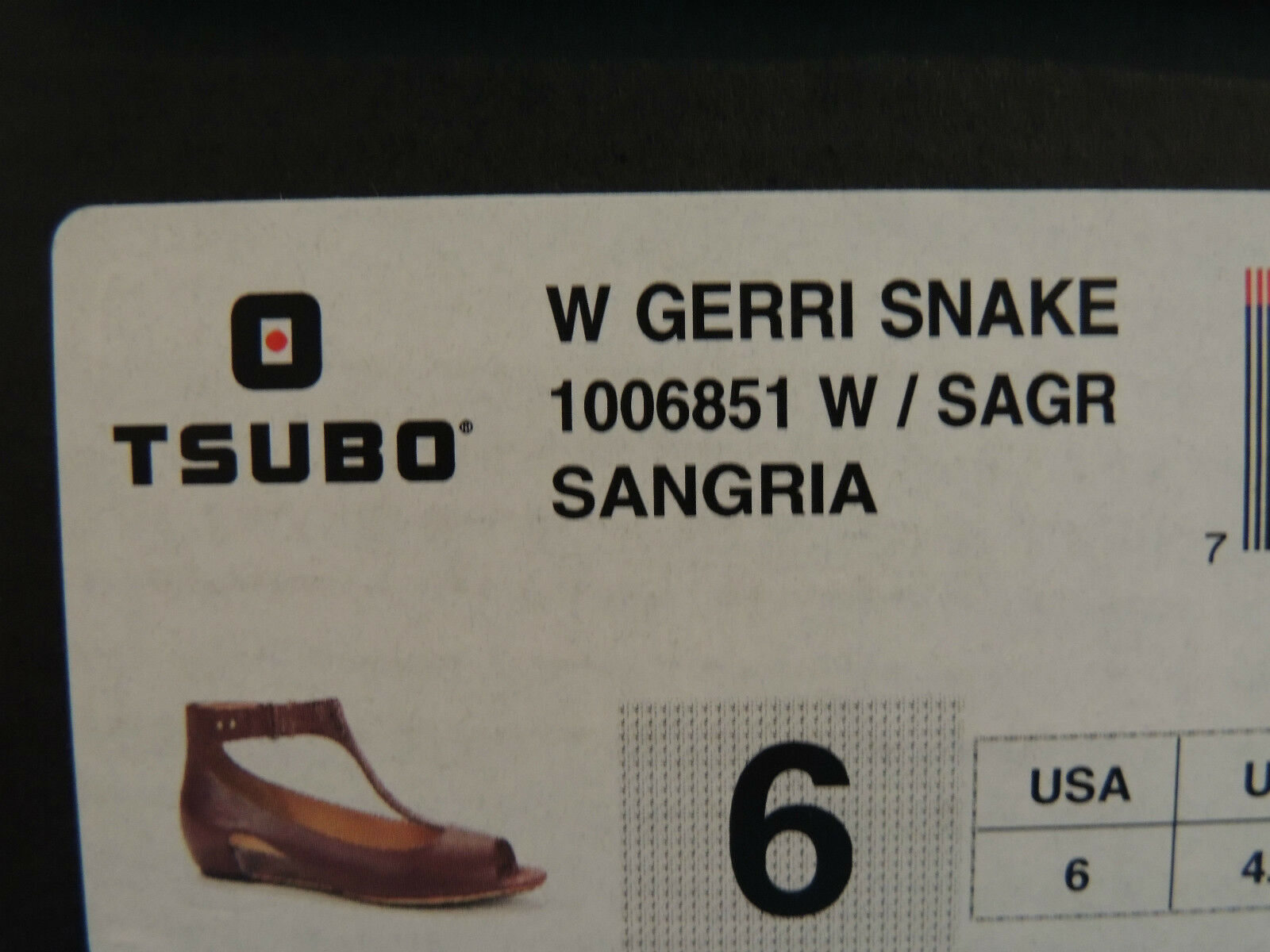 TSUBO SANGRIA GERRI SNAKE T- US STRAP WEDGE HEELS/ SANDALS, US T- 6/ EUR 37 NIB e9c7e1