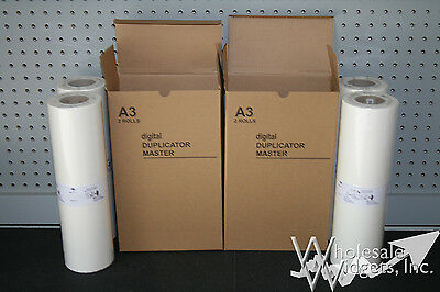 4 Master Rolls Compatible With Riso S-3549 For Risograph A3-LG RP FR RP07LG RP07