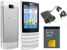 NUOVA condizione Nokia X3-02 Touch & Type WHITE SILVER 3G Sbloccato da 5 MP Fotocamera