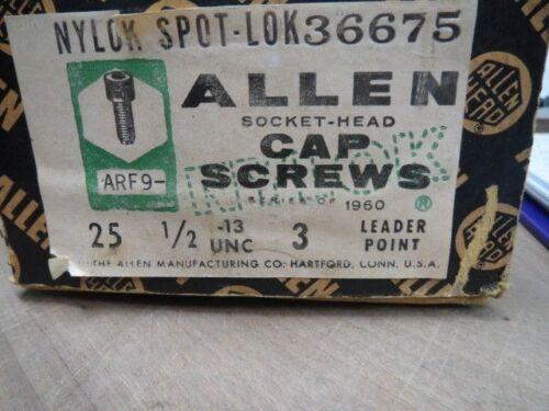 LL0742-1 1//2-13 X 3 SOCKET HEAD CAP SCREW 36675 ALLEN 25 PCS