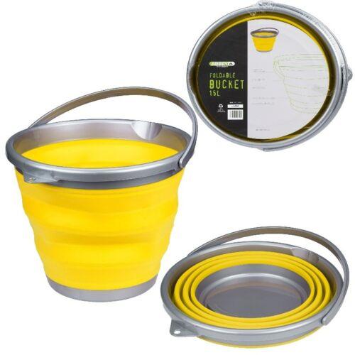 grün rot FALTEIMER 15 Liter für Camping Haushalt Klappeimer Eimer gelb