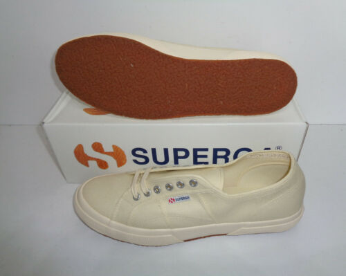 Superga 2750 Cotu Classic Canvas Beige Mens Shoes Trainers RRP £50 UK Size 12