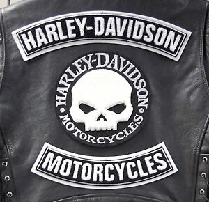 Acheter Pas Cher Kit Patch Patches Skull Willie G. >bikers Harley Davidson Veste Xl Gilet Motard