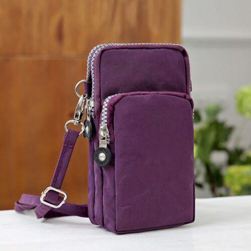 Cross-body Mobile Phone Shoulder Bag Pouch Case Belt Handbag Purse Wallet New Sp