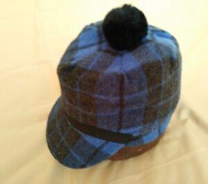 Image is loading Vintage-Wool-Scotch-Cap-w-Full-Inband-Blue- cd915f96c85
