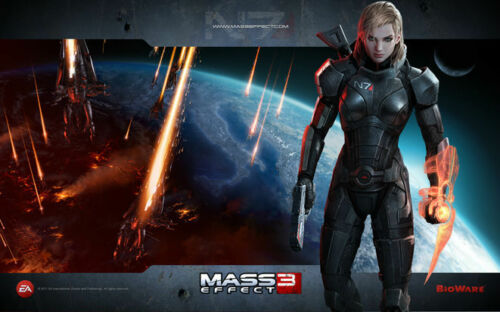 "063 Mass Effect 1 2 3 4 ME Killer Fighting Shooting TV Game Wall Poster 21/""x13/"""