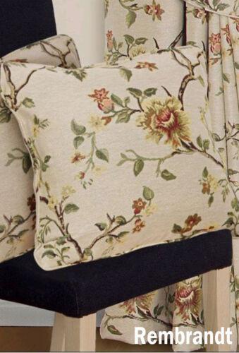 43.2cm//43cm Gewebt Wandteppich Jacquard Creme//Natürlich Blumen Kissen oder