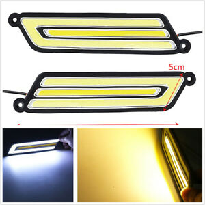 2PCS COB Flexible DRL car accessories LED Day Light Daytime running ...