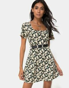 MOTEL-ROCKS-Peky-Skater-Dress-in-Aster-Black-Extra-Small-XS-mr10