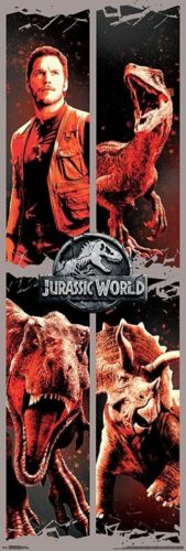 JURASSIC WORLD MOVIE POSTER DOOR SIZE 21X62-16171