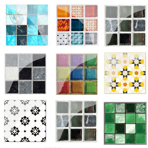 19pcs-Mosaic-Tile-Wall-Sticker-PVC-Waterproof-Tiles-Decals-Kitchen-Home-Decor
