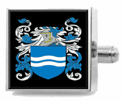 Select Gifts Healy Ireland Family Crest Surname Coat Of Arms Cufflinks Personalised Case