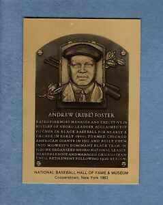 Details About Rube Foster Negro Leagues Official Hall Of Fame Metallic Plaque Card 11000