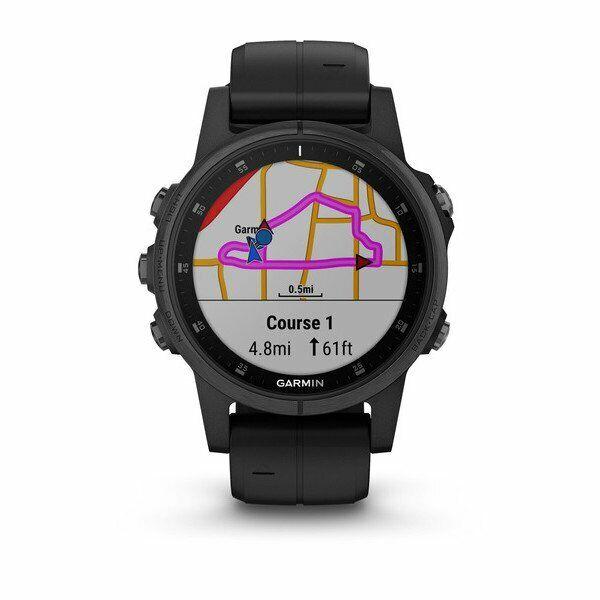 Garmin Fenix 5s Plus 42mm Sapphire Multisport Gps Watch Black Black