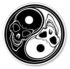 "Dragon Yin Yang car truck SUV laptop macbook window decal sticker 10/"" White"