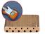 Für E-Gitarre Tremolo Bridge Stahl Messing Block Sättel Gitarrenteil Langlebig