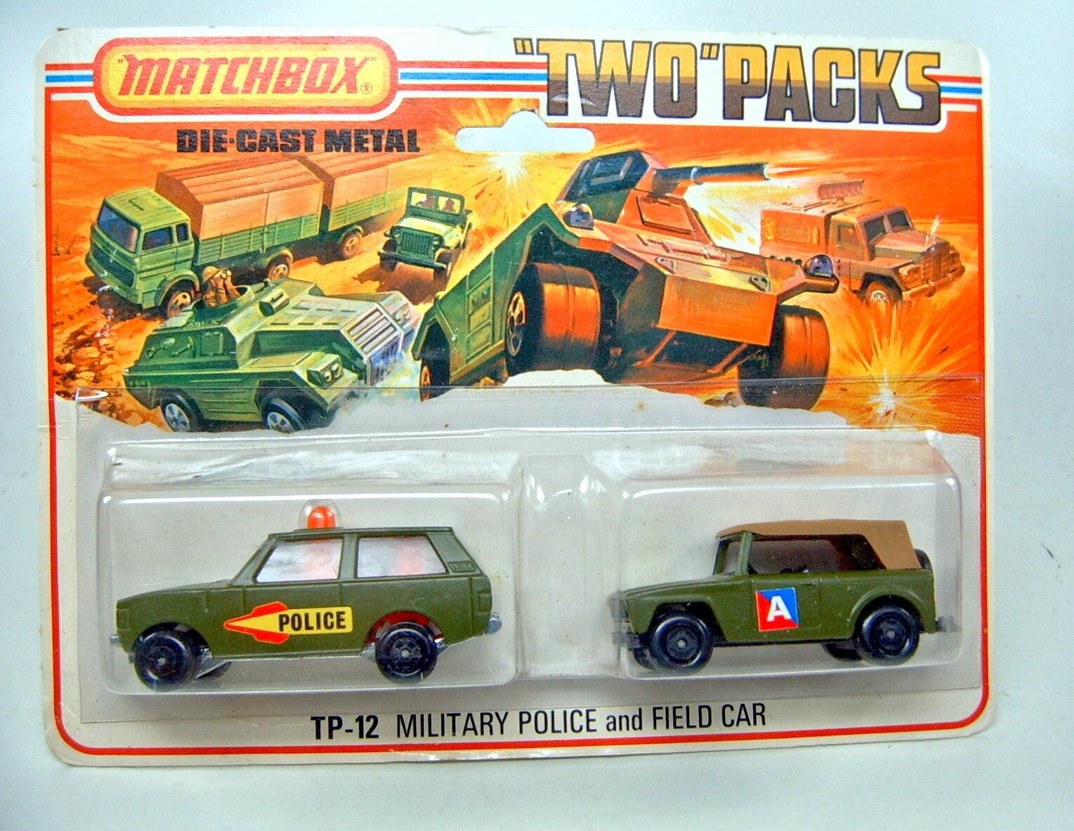 promociones Matchbox Matchbox Matchbox TP12 policía militar y campo coche  A  etiqueta súperior  barato en alta calidad