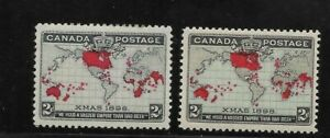 Canada Scott #85-#86 mint lightly hinged 1898 Imperial Penny Postage Issue f/vf