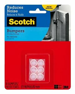 Scotch-Self-Stick-Rubber-Bumpers-Reduce-Noise-Prevent-Scratches-amp-Marring-18-ct