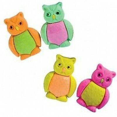 Novelty Owl eraser - Choice of colours - Brand New