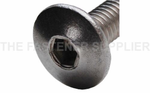 Mush 10 M6 Hex Drive STAINLESS STEEL Connector Bolts Length/'s: 15mm to 100mm