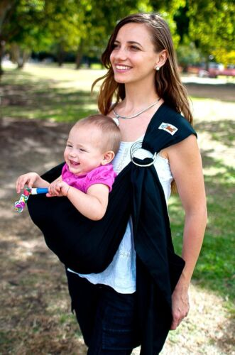 Walkabout RRP$59 Baby Ring Sling Carrier Pouch Wrap Cotton Green 5 in 1 NEW