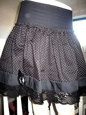 NEW Black white check frilled tutu skirt Party Alternative Clothing Rock Lolita