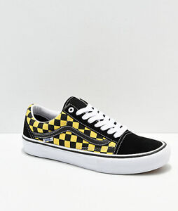 Vans Old Skool Pro Grey Checker & White Skate Shoes Grey, Mens Skate Shoes Mens, Skate Shoes