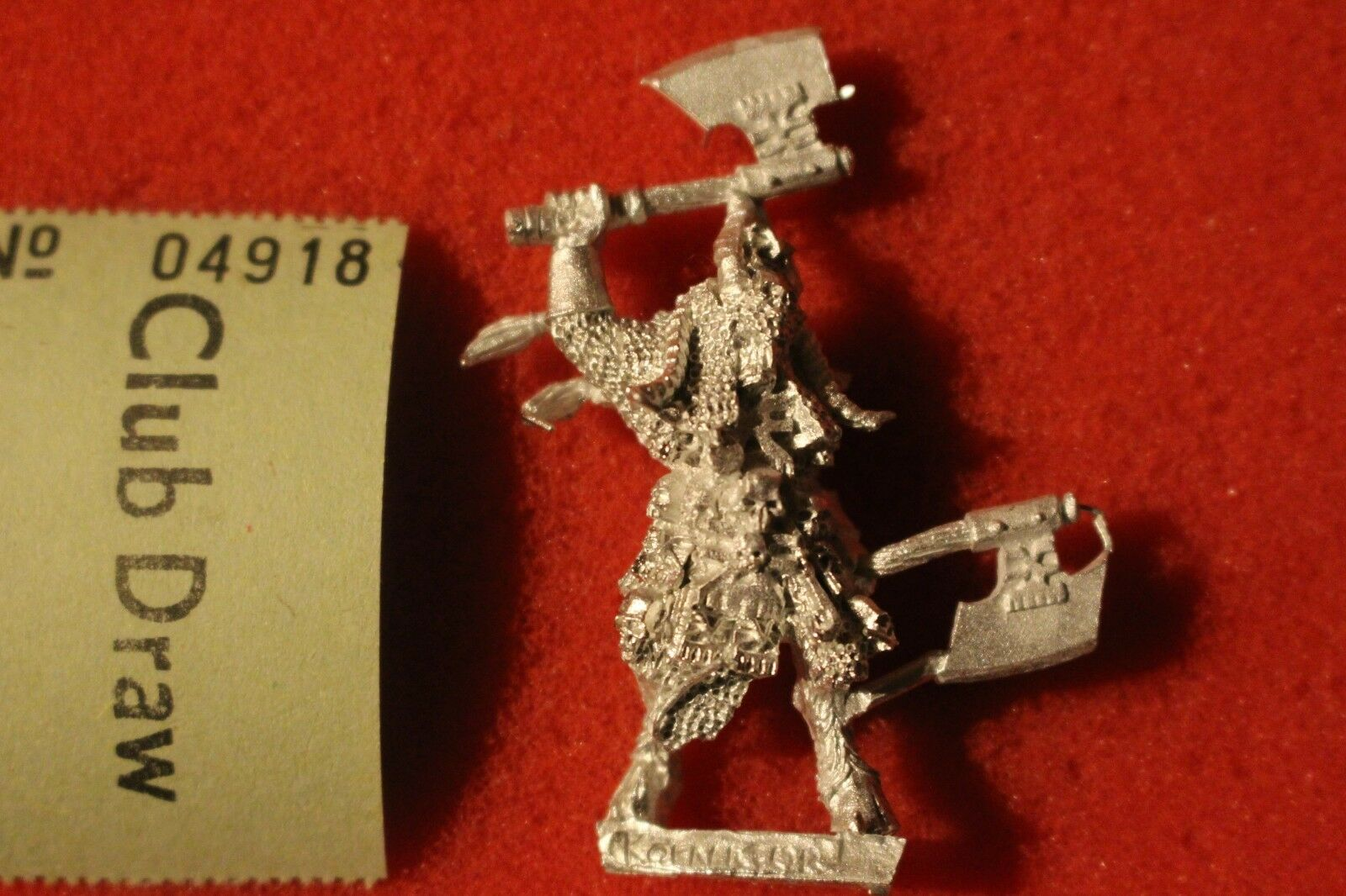 Games Workshop Warhammer Khorngor Champion Hero Lord Beastmen Khorne Metal OOP
