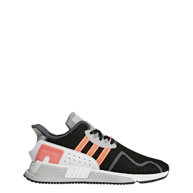 newest 13d4a 65ed0 adidas EQT Cushion ADV Mens AH2231 Black White Turbo Running Shoes Size 11