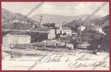 GENOVA CITTÀ 763 BORZOLI - SANTUARIO VIRGO POTENS Cartolina viaggiata 1906