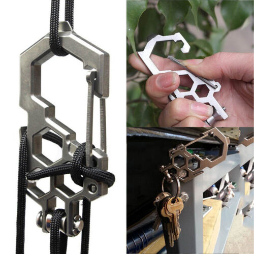 EDC Camping Tool Para-Biner Pulley System Stainless Steel Carabiner Ope ZP ob