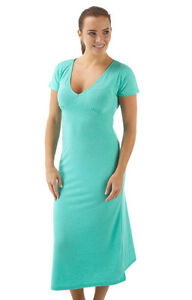 Ladies-Nightie-Nightdress-short-sleeves-Bright-Green-Size-Small-Medium-Large