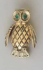 Vintage-Owl-brooch-in-enamel-on-Metal