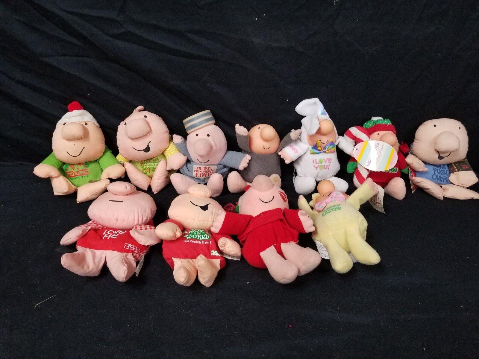 Lot of 11 11 11 Vintage Ziggy Stuffed Animals 79304c