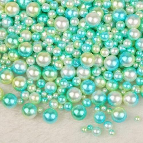 250PCS Mixed size ABS Round Imitation Pearls No Hole Clothing Jewelry Accessorie