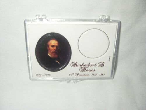 """HAYES  /""""GOLD/"""" COIN DISPLAY CASE ONLY U S PRESIDENT 19TH PRESIDENT RUTHERFORD B"""