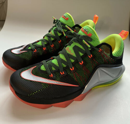 LeBron XII 12 Remix Low Black Lime Basketball Shoe