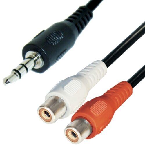Cable de audio 3,5mm manija conector de 2 conectores Cinch adaptador de distribución elegibles