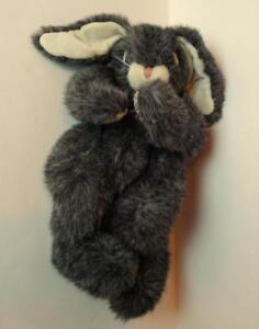 Gray-Easter-Bunny-Plush-Ty-Rabbit-Vintage-1995-Retired