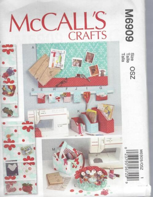 Mccall\'s Sewing Pattern M6909 Message Board Pincushion Organizers ...