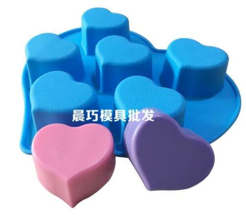 Vivid Heart 3D Soap Mold Cake Mold Silicone Mould For Candy Chocolate