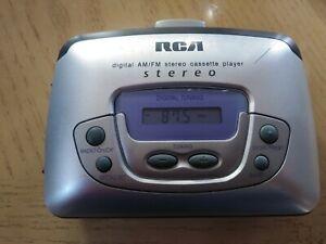 RCA Portable Digital AM FM Stereo Cassette Player Model RP-1874A Tested Freeship