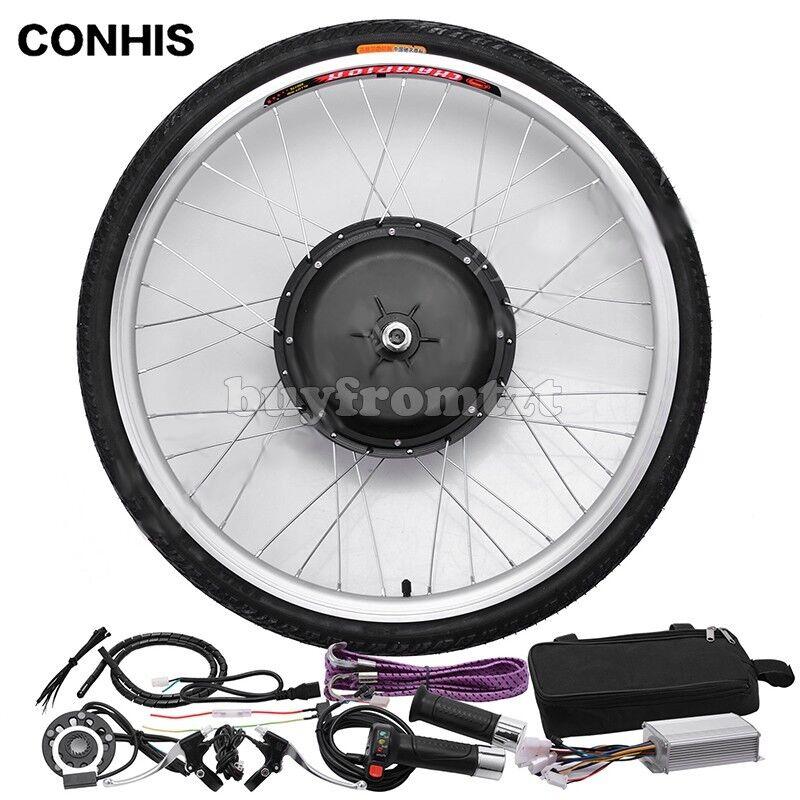 700C 48V 1000W Front Wheel E-Bicycle Conversion Kit 20'' 24'' 26'' 27.5''28''